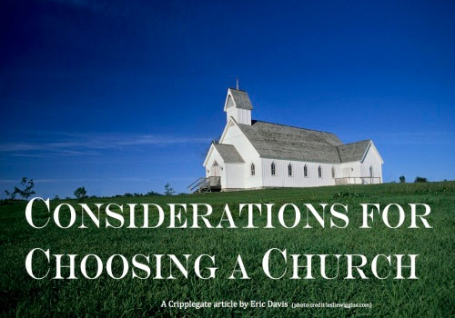 Considerations for Choosing a Church