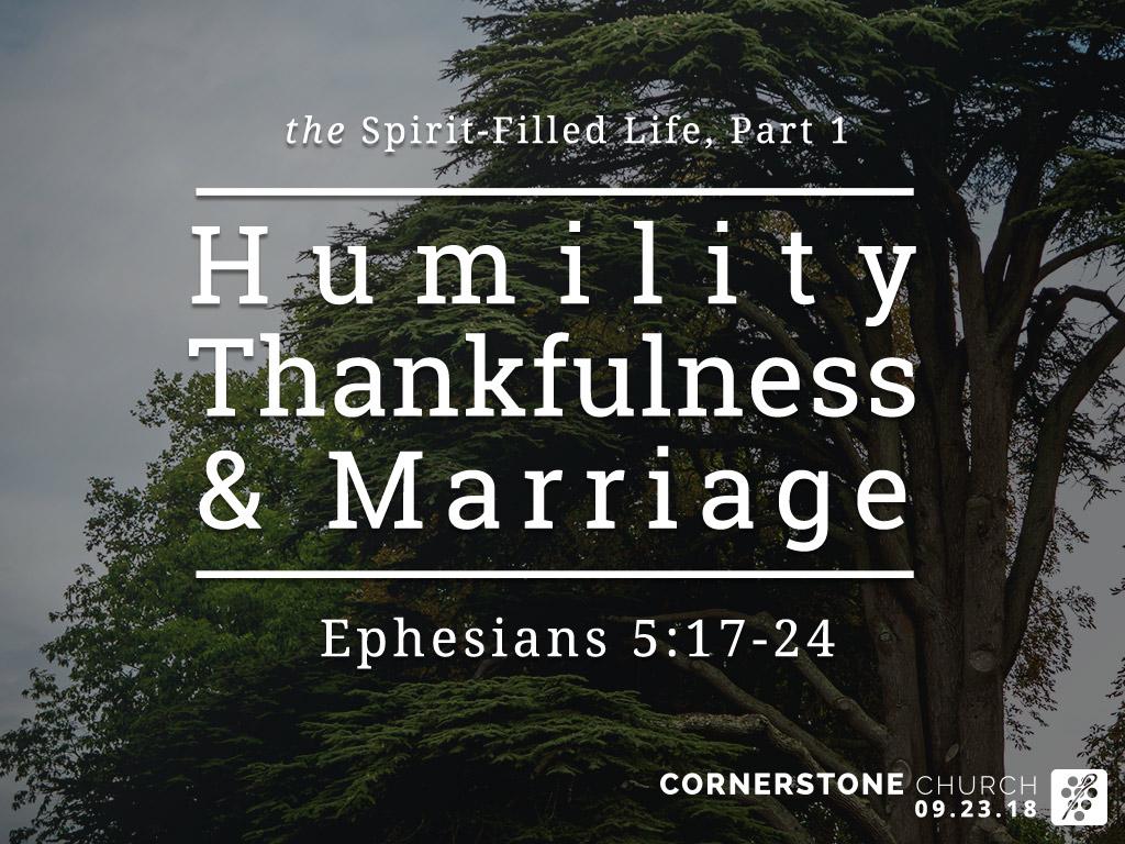 [sermon] Ephesians 5:17-24 The Spirit-Filled Life, Part 1